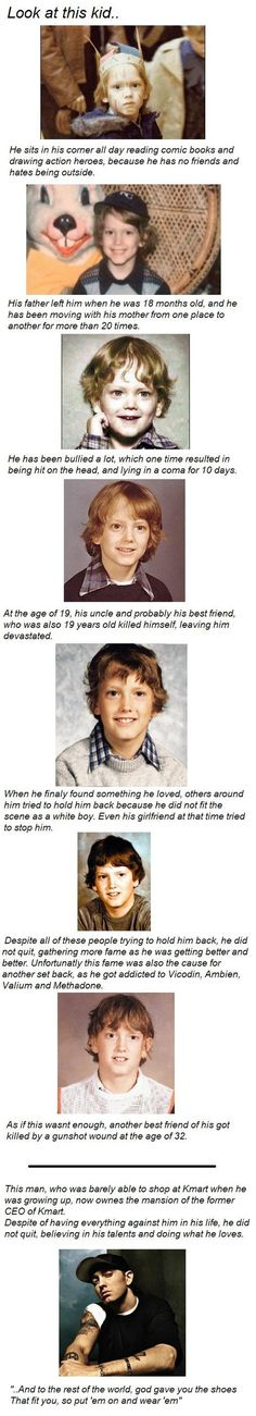 An inspiring story - Inspirational story of Eminems life