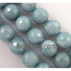 Quartzite stone bead, stability, faceted round dia, approx per st Jade Beads, Stone Beads, Stability, Saints, Blue