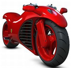 """Amir Glinik's Ferrari Motorcycle concept requires creative engineering in the form of a """"sliced"""" from a Ferrari engine, repositioned oil sump and a Ferrari, Lamborghini, Concept Motorcycles, Cool Motorcycles, Motor V12, Yamaha Yzf, Motorcycle Design, Bike Run, Key Design"""