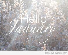Hello january picture saying