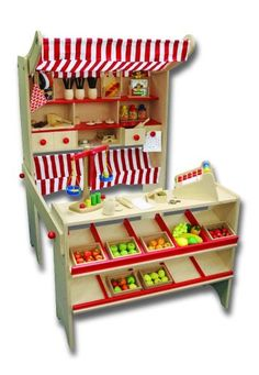 BEEBOO Kaufladen, Länge 85 x Breite 110 x Höhe 128 cm, ohne Zubehör: Amazon.de: Spielzeug