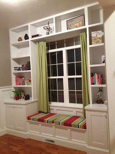 Bedroom window built in