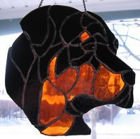 Stained Glass Rottweiler