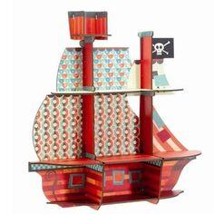 Een super hip piratenkastje om aan de muur te hangen en al je schatten in te bewaren.  Afmetingen 52x54x14...