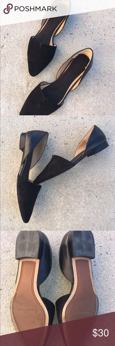 Shoes Franco Sarta flats.  Leather back and suede front.  These shoes are versatile, so they look nice with slacks, denim, or s skirt. Gentle used discounted from $40 Franco Sarto Shoes Flats & Loafers