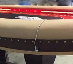 poker table with smart hub & USB phone charger ports - Gamer House Ideas 2019 - 2020 Poker Table For Sale, Round Poker Table, Poker Table Plans, Custom Poker Tables, Patio Table, Diy Table, Pool Tables, Hub Usb, Table Games