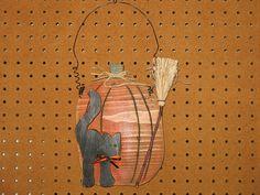 Halloween Craft (pumpkin/cat/broom hangar) | Flickr - Photo Sharing!