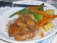Crockpot Honey Bourbon Chicken ( Do not pass this one up, its EASY and SO GOOD, I got it down to 313 calories for a 1/4 of the recipe-S) recipes