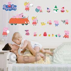 100x80cm(40x32in)cartoon Peppa Pig Wall Sticker Nursery Children Favorite for Bedroom Home Decoration Gefii,http://www.amazon.com/dp/B00HJ3WR16/ref=cm_sw_r_pi_dp_phnbtb1958MX87GF