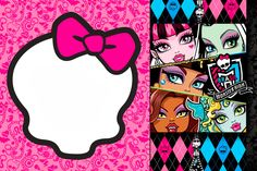 Monster High: Invitations and Party Free Printables.