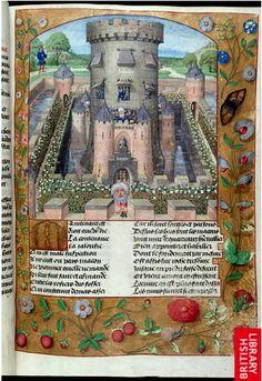 roman de la rose harley 4425 castle