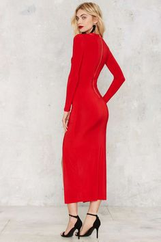 Easier Red Than Done Cutout Maxi Dress | Shop Clothes at Nasty Gal!