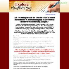 World Renowned Hypnotherapist To The Stars Steve G. Jones Teaches You To Analyze Anyone Simply By Reading Their Handwriting. See more! : http://get-now.natantoday.com/lp.php?target=sgjwriting