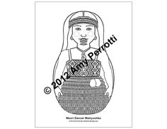 Maori Dancer Matryoshka Coloring sheet PDF by AmyPerrotti on Etsy, $1.00 Party Activities, Activities For Kids, Nz Art, Cultural Identity, To Color, Coloring Sheets, Dancer, Printable, Pdf