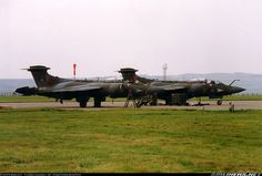 Parked with at the Airshow. Scanned from film. - Photo taken at Leuchars (St. Andrews) (ADX / EGQL) in Scotland, United Kingdom in September, Blackburn Buccaneer, St Andrews, Royal Air Force, Air Show, Royal Navy, Cold War, Military Aircraft, Great Britain, Wwii