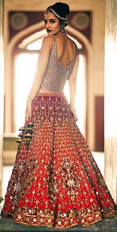 #bride in #red n #orange # lehenga #bold #darkntwisted # modern #desi