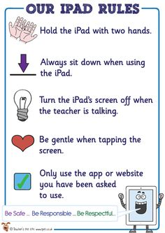 Teacher's Pet Displays » Our iPad Rules Poster » FREE downloadable EYFS, KS1, KS2 classroom display and teaching aid resources