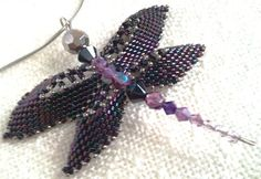 Gift for Her Purple dragonfly  special individual by Mamyblue, $45.00 Belly Button Rings, Gifts For Her, Necklaces, Drop Earrings, Trending Outfits, Purple, Unique Jewelry, Handmade Gifts, Etsy