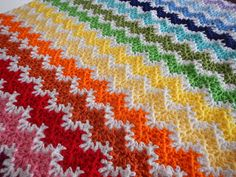 Apple Blossom Dreams: Stash-Buster - Vintage Rainbow - this is cute Crochet Ripple, Afghan Crochet Patterns, Crochet Patterns For Beginners, Easy Crochet, Knit Crochet, Crochet Afghans, Afghan Blanket, So Little Time, Crochet Projects