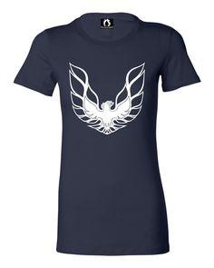 Juniors Pontiac Firebird Logo GTA Trans-Am Retro T-Shirt