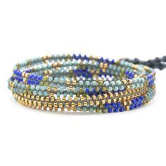Blue Mix Beaded Wrap Bracelet - Chan Luu