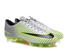 outlet store 6eeab f91d4 Chaussures de Football Nike Mercurial Vapor XI FG Smooth Ground Man Gris  Vert 831958ID6-Chaussure