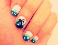 beachy nail art