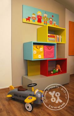 עיצוב חדרי ילדים ונוער| מדפים| כוורות| יו-יו ילדים
