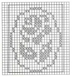 Bomboniere all'uncinetto - Hobby Crochet Patterns Filet, C2c Crochet, Thread Crochet, Crochet Doilies, Crochet Stitches, Cross Stitch Patterns, Cross Stitch Heart, Cross Stitch Flowers, Cross Stitch Kitchen