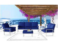 Marie Claire Home Komfortowe i ekskluzywne meble ogrodowe francuskiej marki Outdoor Furniture Sets, Outdoor Decor, Marie Claire, Sun Lounger, Inspiration, Home Decor, International Style, Beautiful Homes, Home Decor Accessories