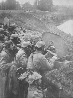 German Maxim gunners in Poland August 1914