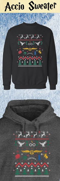 There's no better holiday accessory than an ugly sweater, especially this beautiful Harry Potter version. Sporting everything from golden snitches to owls to the Hogwarts sigils, this is the perfect winter clothing for fans of JK Rowling's amazing series. Also available in tee shirt and hoodie styles.