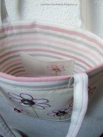 Ježikůže HandMade: Velká jarní taška - návod Diaper Bag, Handmade, Tote Bags, Scrappy Quilts, Bags, Hand Made, Diaper Bags, Tote Bag, Mothers Bag