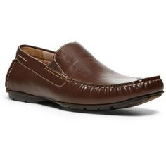 Madden Men Brown Navy Slip-On Shoe ($50) ❤ liked on Polyvore featuring men's fashion, men's shoes, men's loafers, brown, mens navy shoes, mens loafers shoes, mens brown slip on shoes, mens formal shoes and mens brown shoes