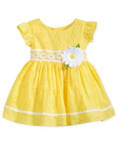 Baby Girl Clothes at Macy's come in a variety of styles and sizes. Shop Baby Girl Clothing at Macy's and find newborn girl clothes, toddler girl clothes, baby dresses and more. Baby Girl Frocks, Frocks For Girls, Kids Frocks, Cute Little Girl Dresses, Dresses Kids Girl, Kids Outfits, Girls Frock Design, Baby Dress Design, Toddler Girl Style
