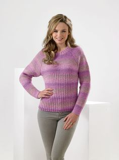 James C Brett Sweater in Marble DK weight yarn. From 10 years to x-large adult. 10 Years, Knit Crochet, Marble, Crochet Patterns, Pullover, Knitting, Lady, Sweaters, Fashion