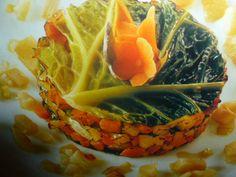 tortino di verza - con topinambur