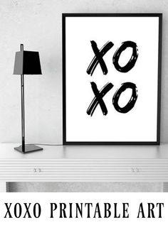 XOXO PRINTABLE ART -