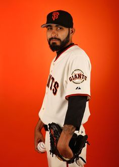 Pitcher Sergio Romo #54 of the San Francisco Giants poses for a portrait during spring training photo day at Scottsdale Stadium on February 27, 2015 in Scottsdale, Arizona. (February 26, 2015 - Source: Christian Petersen/Getty Images North America)