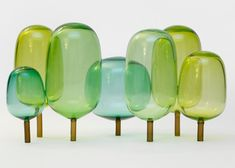The Woods glass sculptures by StokkeAustad and Andreas Engesvik