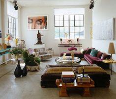 Bohemian livingroom.