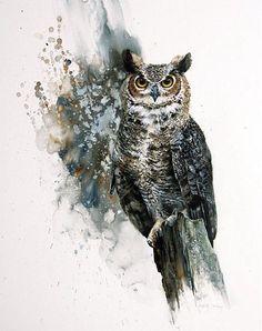 Great Horned Owl by Morton E. Solberg