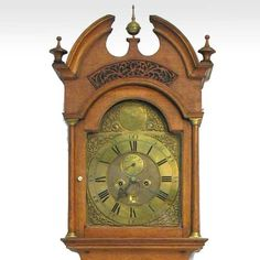 Scottish Charles Allan Oak Grandfather Clock c. 1770