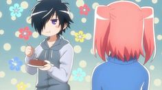 Mikakunin de shinkoukei His expression less face is hilarious this anime is funny and extremely cute especially beniyo