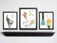 handmade monogram prints... initials aren't far off