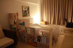 Nice graduated shelf to separate the sleeping area