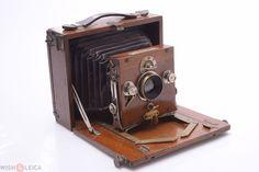 DR. LUTTKE & ARNDT '1898' LINOS 9X12 *RARE* WALNUT WOODen FOLDING PLATE CAMERA | eBay