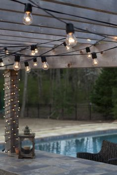String Patio Lights Prepossessing My Tuscan Home Tour Board  Add String Patio Lights To The Pergola Review