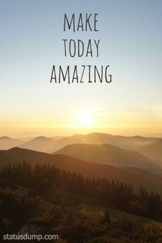 Good Morning... It's a great day to be Amazing and making the world more amazing in the process.