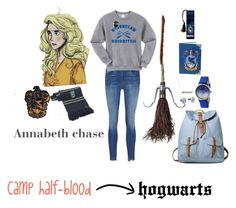 """""""Annabeth as a ravenclaw!❤"""" by varshak1923 ❤ liked on Polyvore featuring Cufflinks, Inc. and Boum"""